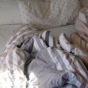 Das Bett vorher