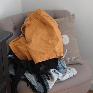 Der Stuhl vorher