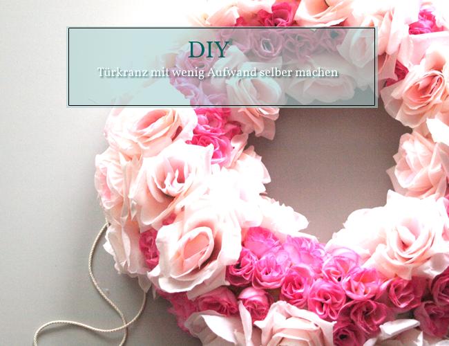 DIY Türkranz mit Blüten