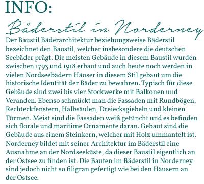 Info Böderstil in Norderney