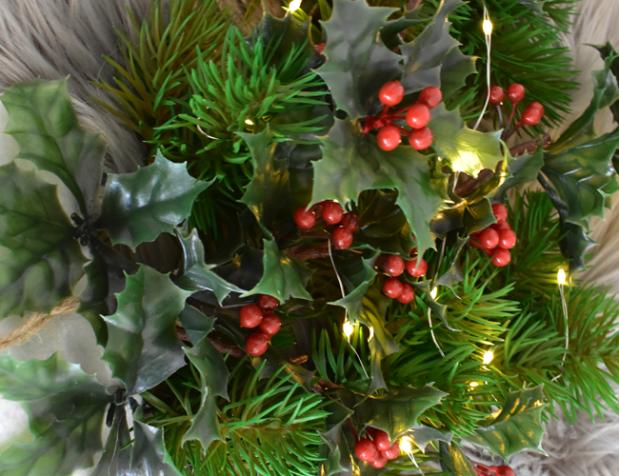 Türschmuck für Weihnachten