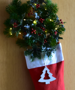 Weihnachtlicher Türschmuck