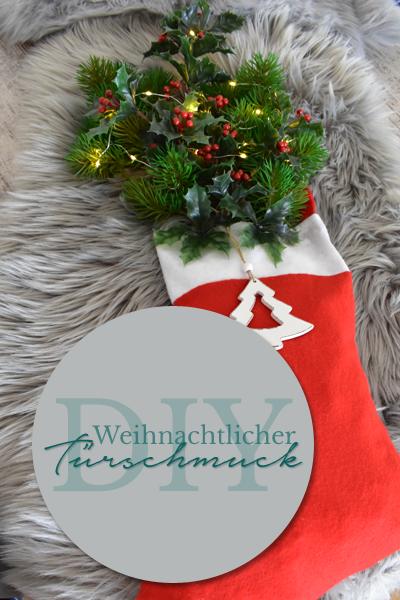 DIY - Weihnachtlicher Türschmuck