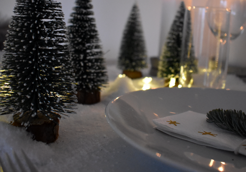 Winterwald Tischdeko
