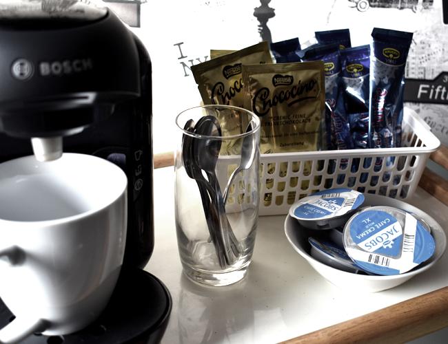 Kaffeestation für eine kleine Küche