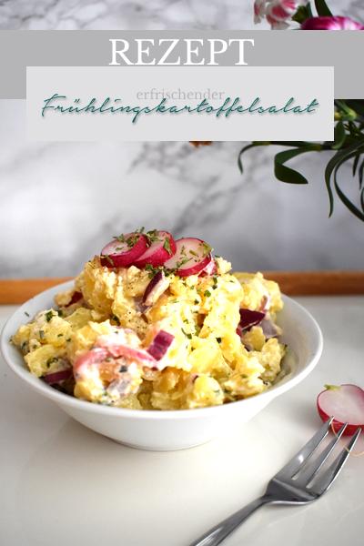 Rezept Frühlingskartoffelsalat - jetzt auf Pinterest teilen